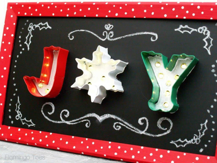 Joy Light Up Chalkboard Art (2)