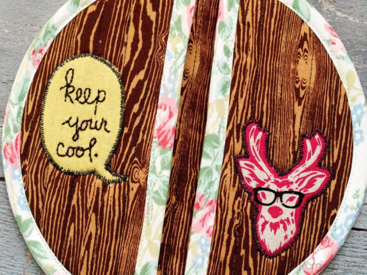Keep Your Cool Embroidered Potholder