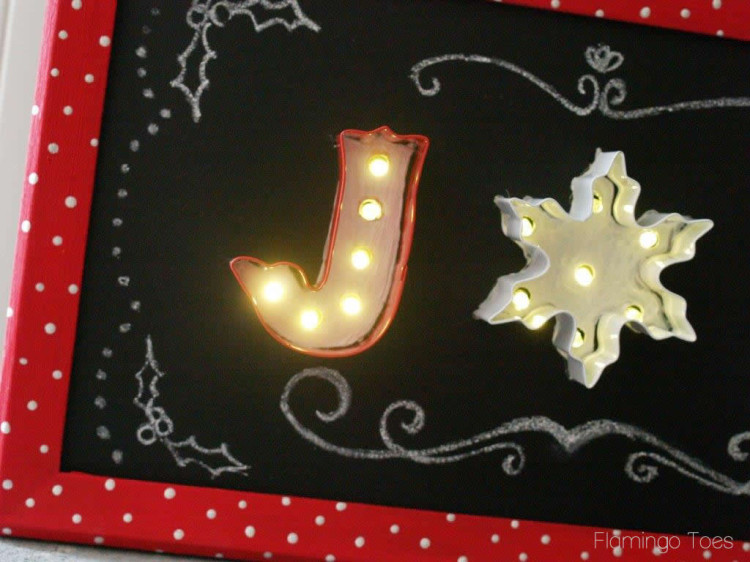 Light Up Chalkboard Sign