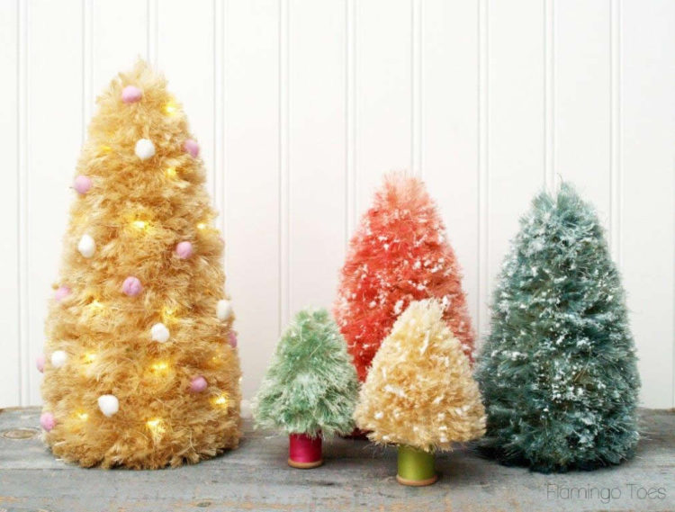 Sisal and Styrofoam Trees