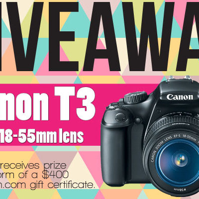 Camera Gift Card Giveaway