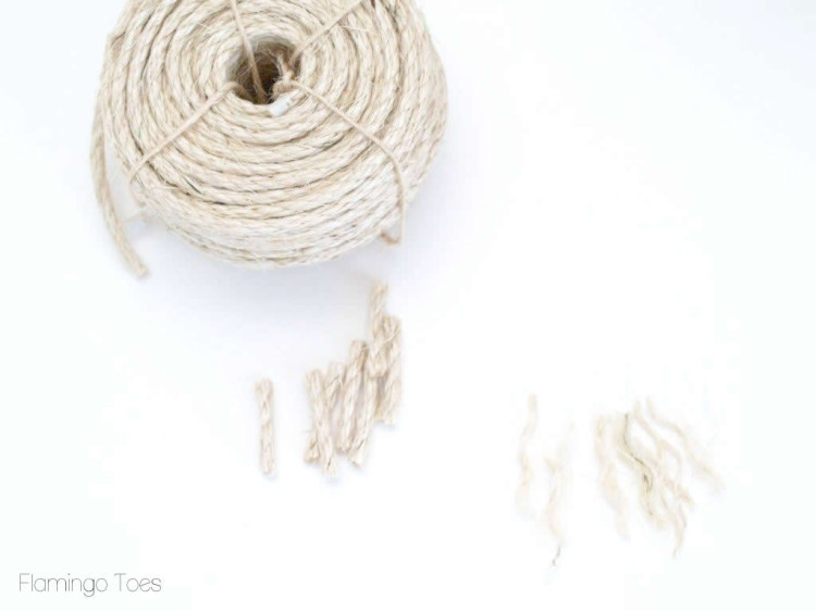 cutting sisal rope