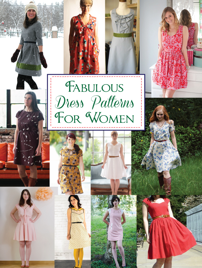 Designer Dress Patterns For Women womens dress patterns