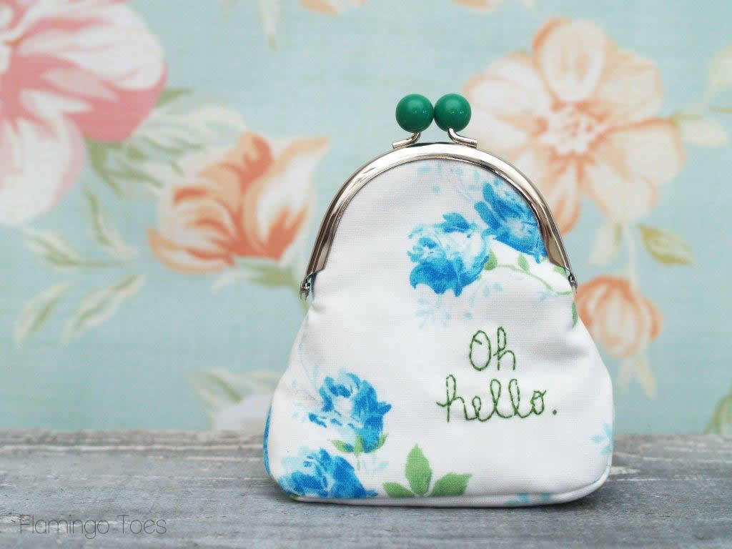 Diy Coin Purse No Sew DIY Embroidered Coin Purse