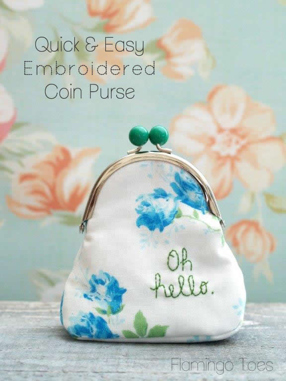 Quick and Easy Embroidered Coin Purse