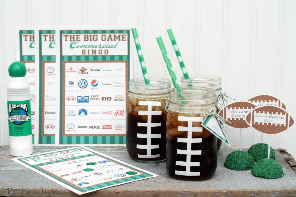 Big game party ideas flamingo toes for Super bowl party items