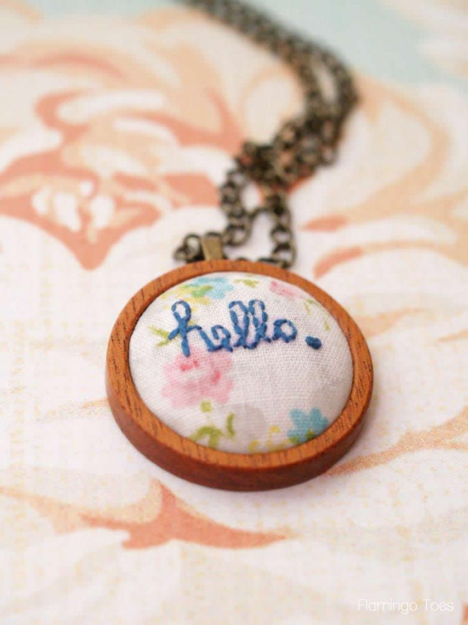 hello pendant necklace