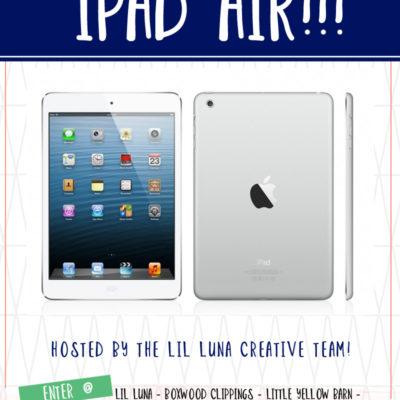 Amazing iPad Air Giveaway