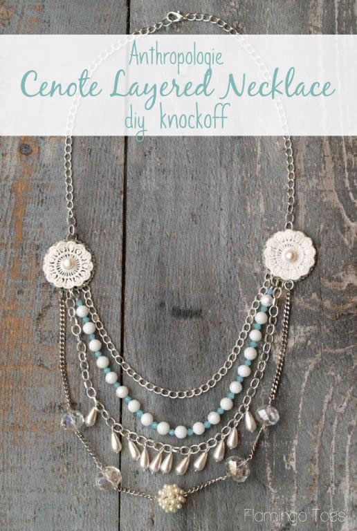 Anthropologie Ceynote Layered Necklace Knockoff