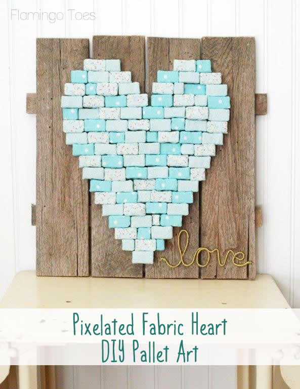 Fabric Heart DIY Pallet Art