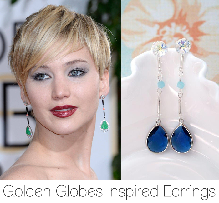 Golden Globes Inspired Earrings