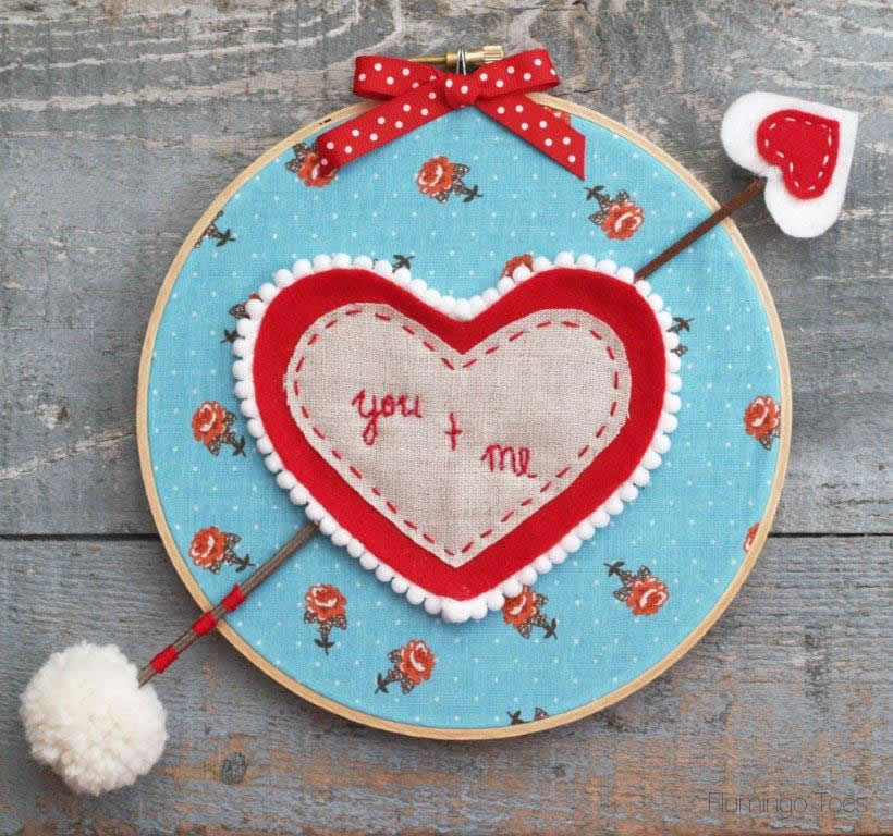 You + Me – Valentine's Day Hoop Art
