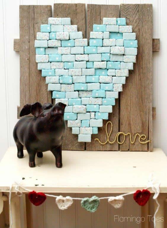 Valentines Heart Pallet Art