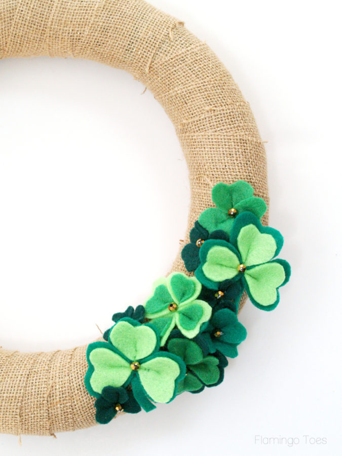 green felt shamrocks