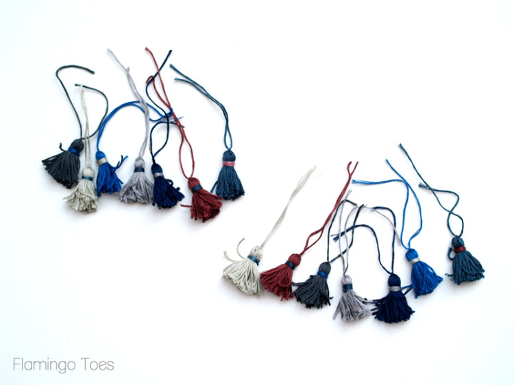 miniature tassels for scarf