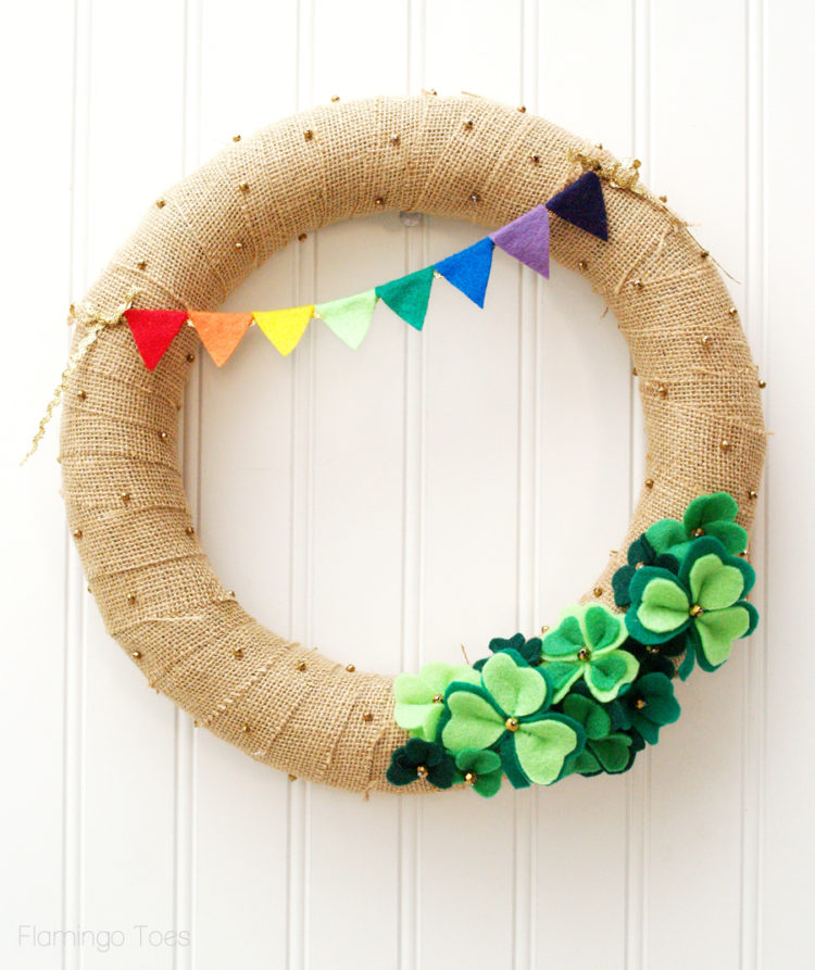 rainbow st patricks day wreath