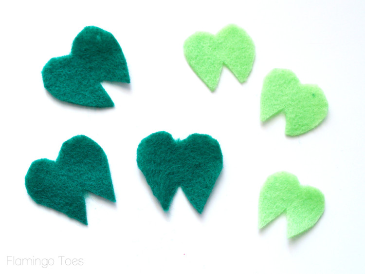 shamrock leaf pieces