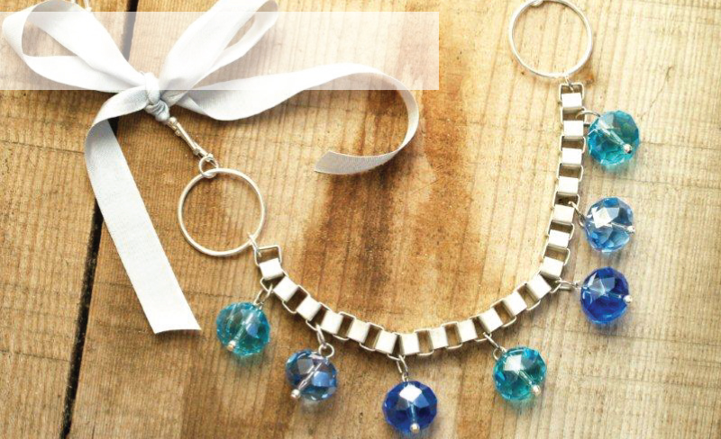 Anthro Frozen Globes Necklace Knockoff
