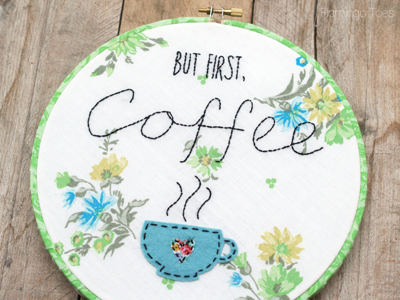 But First Coffee Hoop