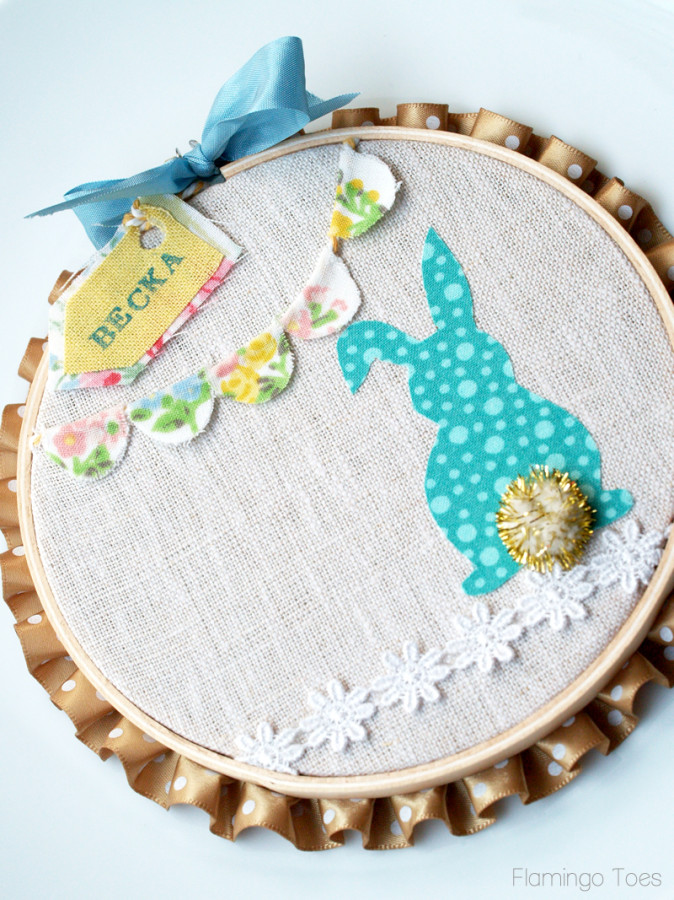 Easter Bunny Hoop Place Card