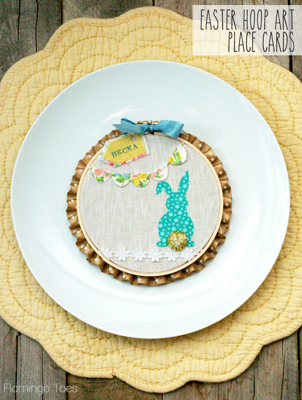 Easter Hoop Art Place Cards