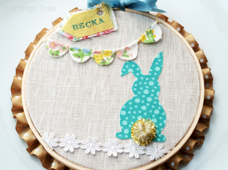 Easter bunny hoop
