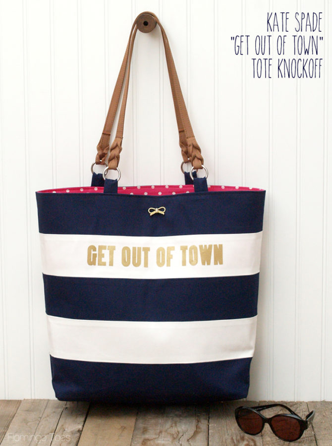 f4c800192ec3 Kate Spade Get Out of Town Knockoff Tote