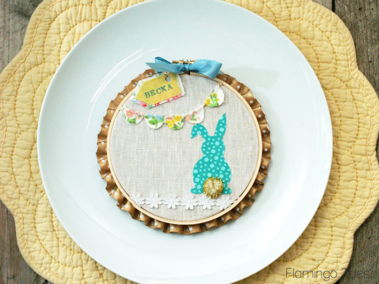 No Sew Easter Hoop Art