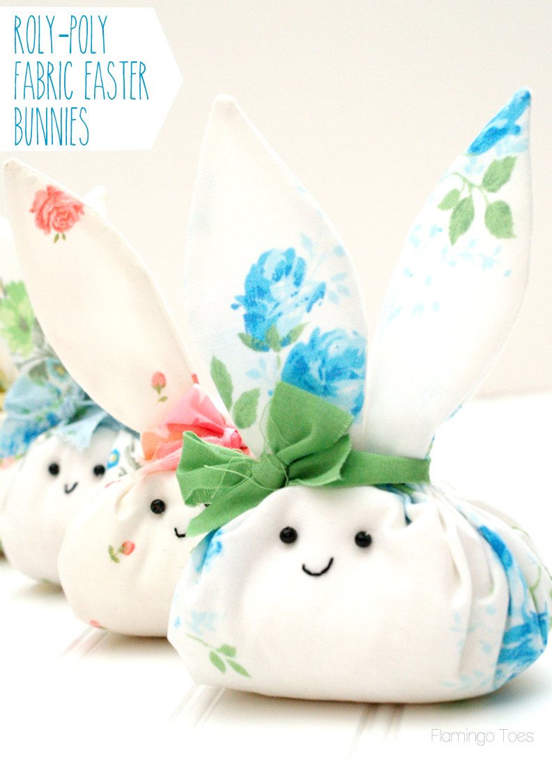 Roly Poly Fabric Easter Bunnies
