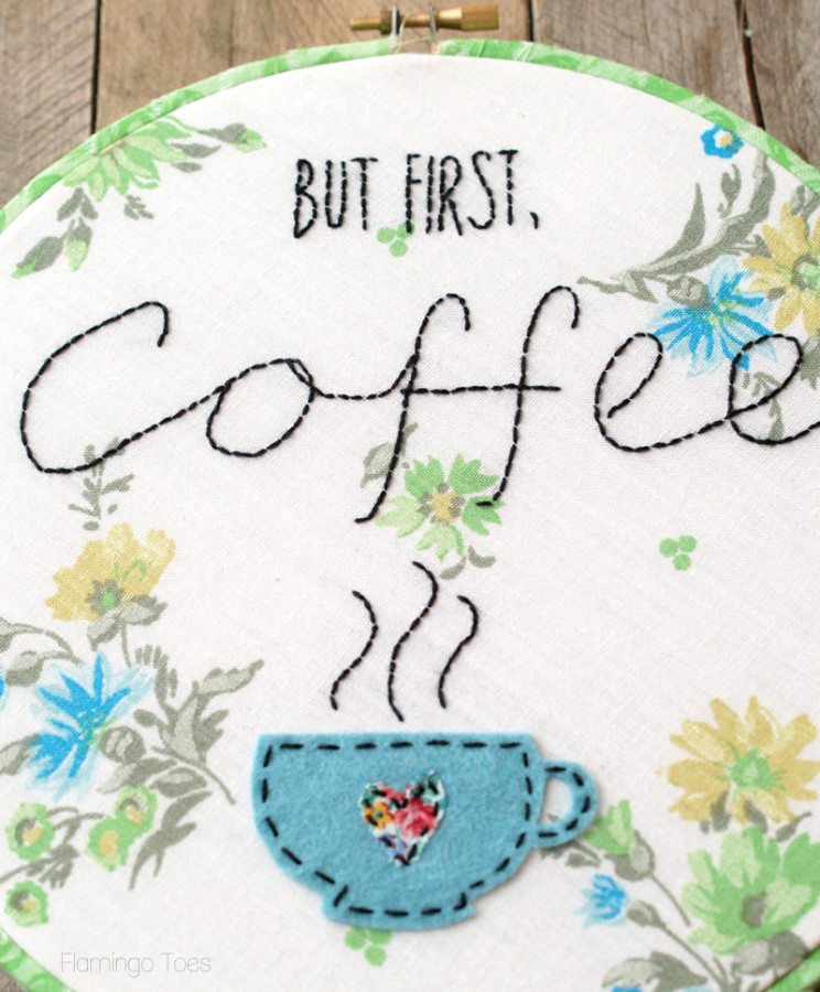 Stitched Coffee Hoop