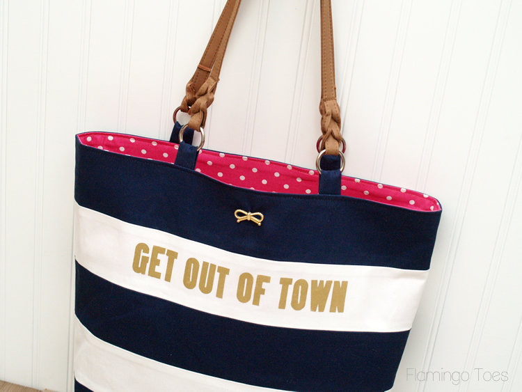 Stripe and Polkadot Tote bag