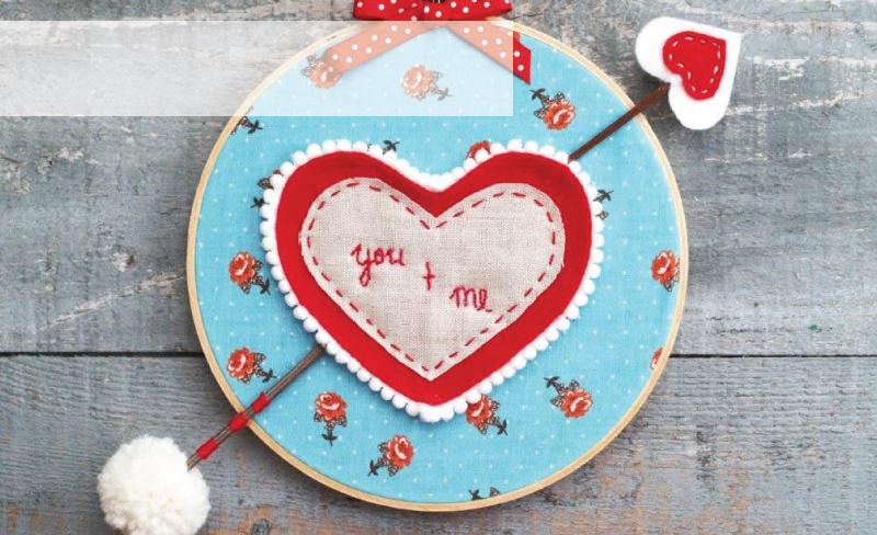Valentine's Day Hoop Art