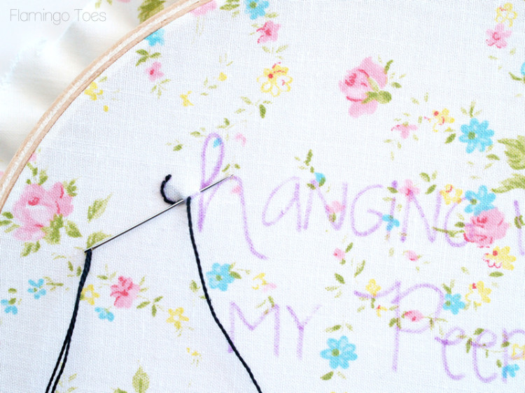 backstitch letters