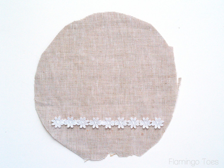 lace trim on linen