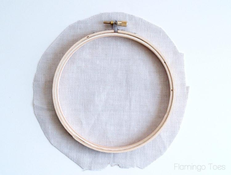 linen and hoop