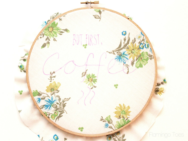 tracing hoop embroidery