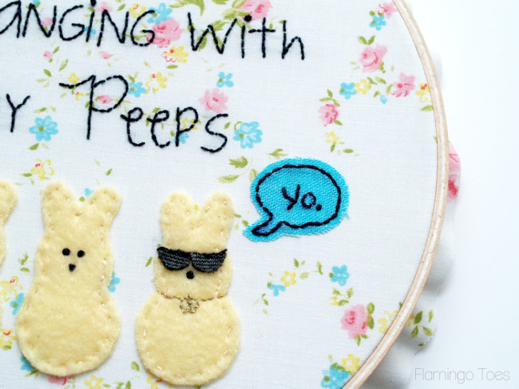 word bubble embroidery
