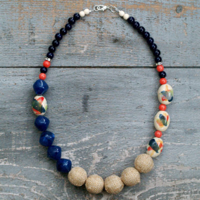 DIY Watercolor Statement Necklace