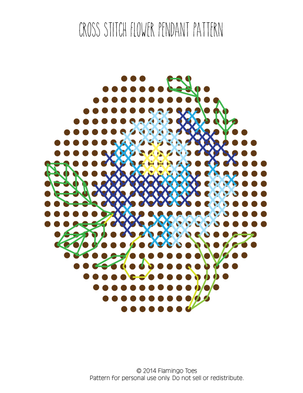 Cross-stitch-Flower-Necklace-Pattern