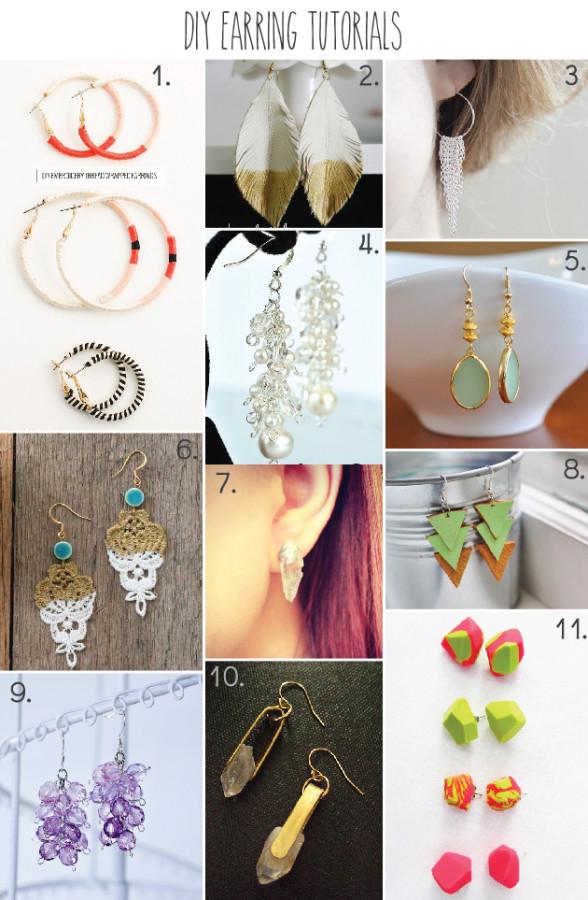 11 DIY Earring Tutorials - part of a huge roundup of 51 DIY Jewelry Tutorials!