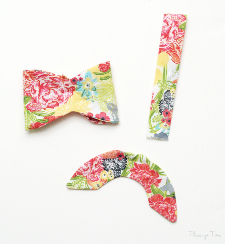Fabric Bow Pieces