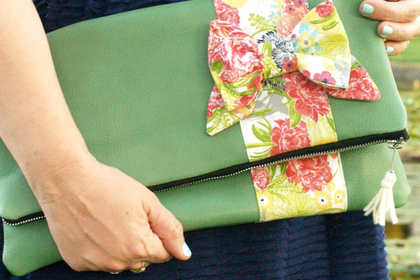 Fold Over Bow Clutch