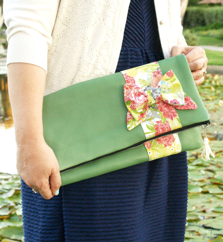 Simple Fold Over Leather Clutch