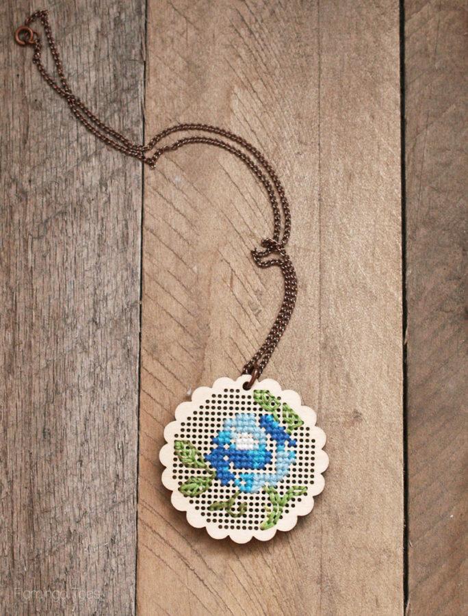 Stitched Pendant