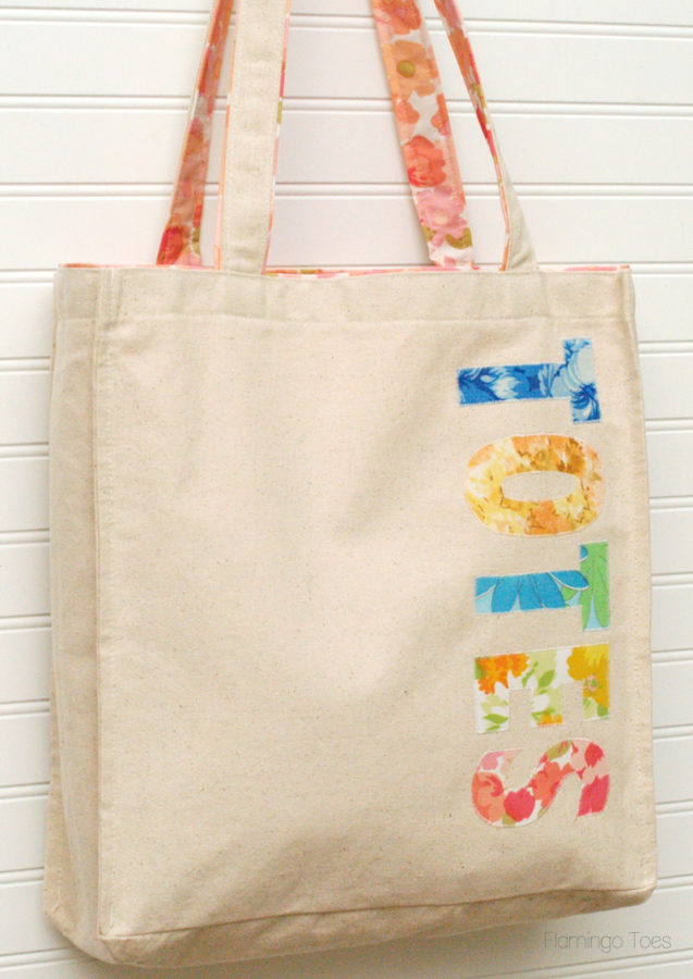 Totes Appliqued Canvas Bag