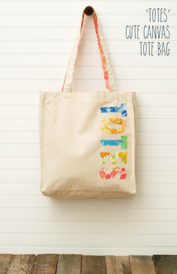 quottotesquot cute canvas tote bag