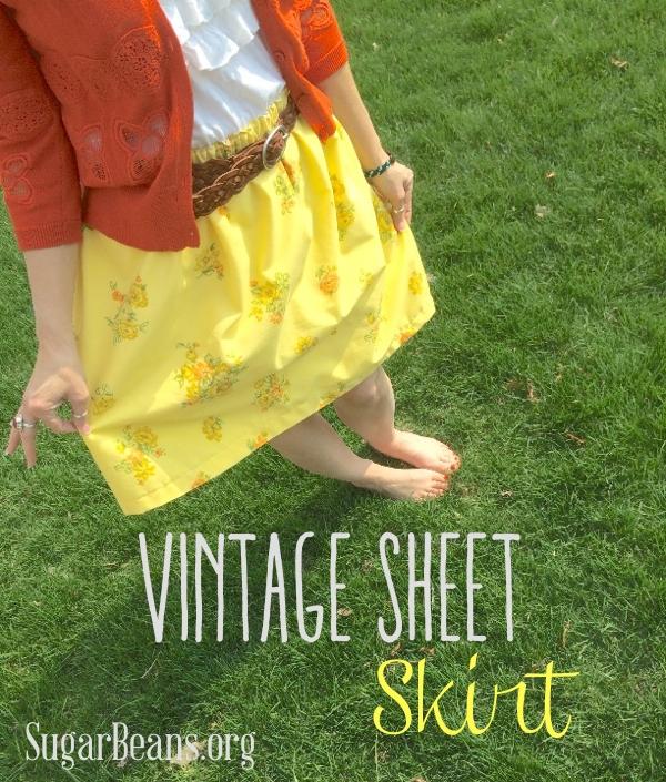vintage sheet skirt