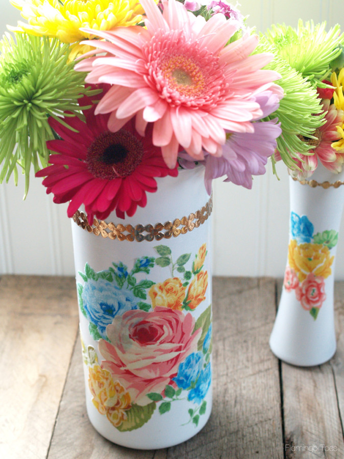 Colorful Floral Vases