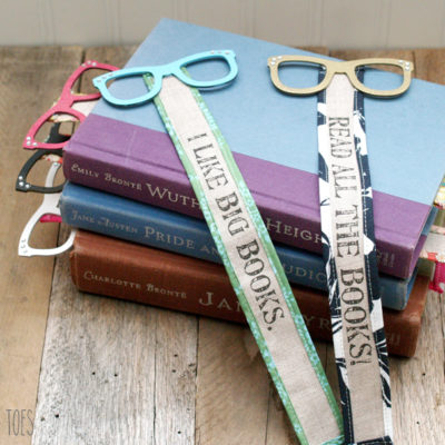 Read in Style – Fun Wood and Fabric Bookmarks