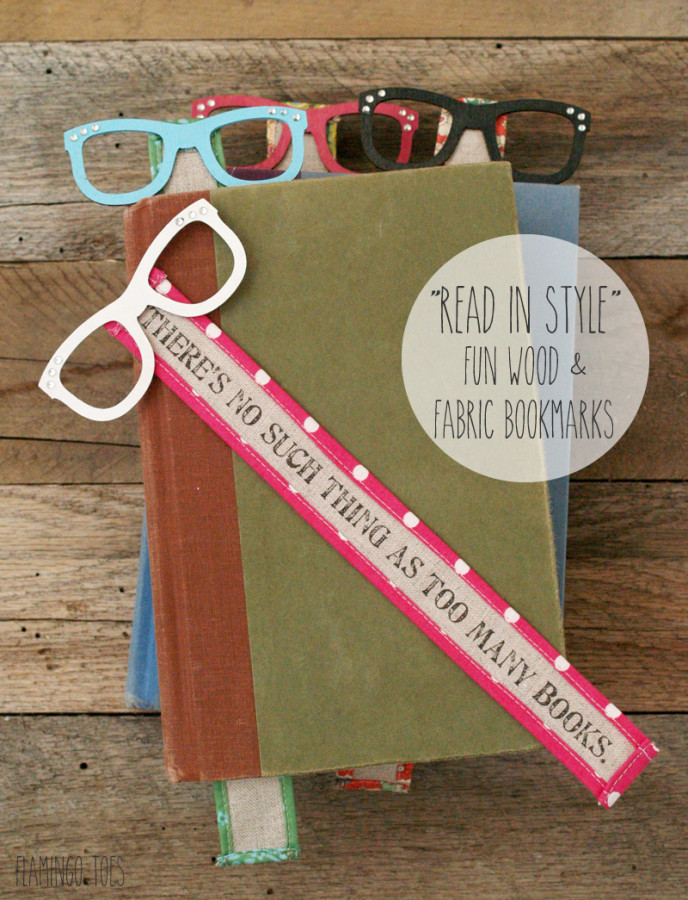 Read In Style - Fun Wood and Fabric Bookmarks